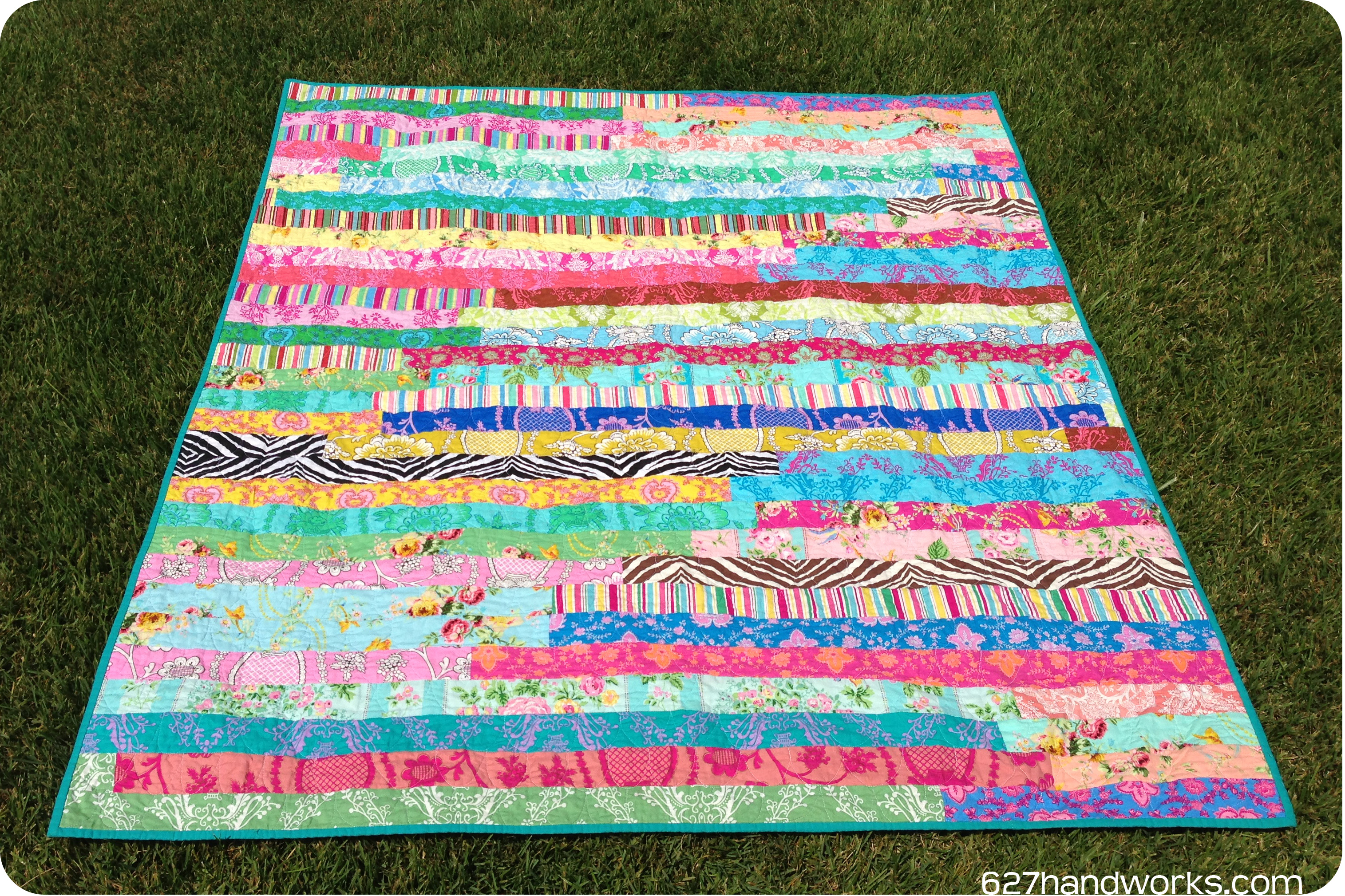 Free Quilt Patterns Using Jelly Roll Strips : Paganelli Jelly Roll Race 627handworks