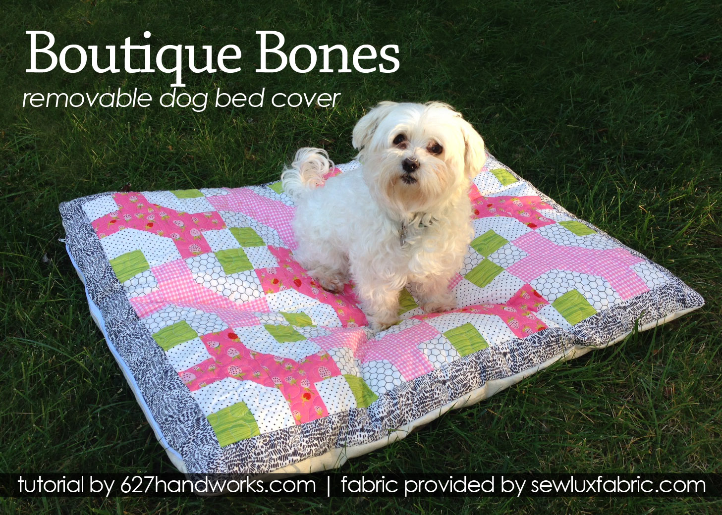 Tutorial Boutique Bones Removable Dog Bed Cover