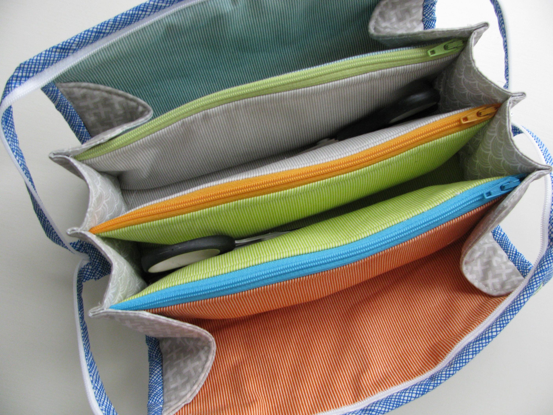 3 zipper pouch