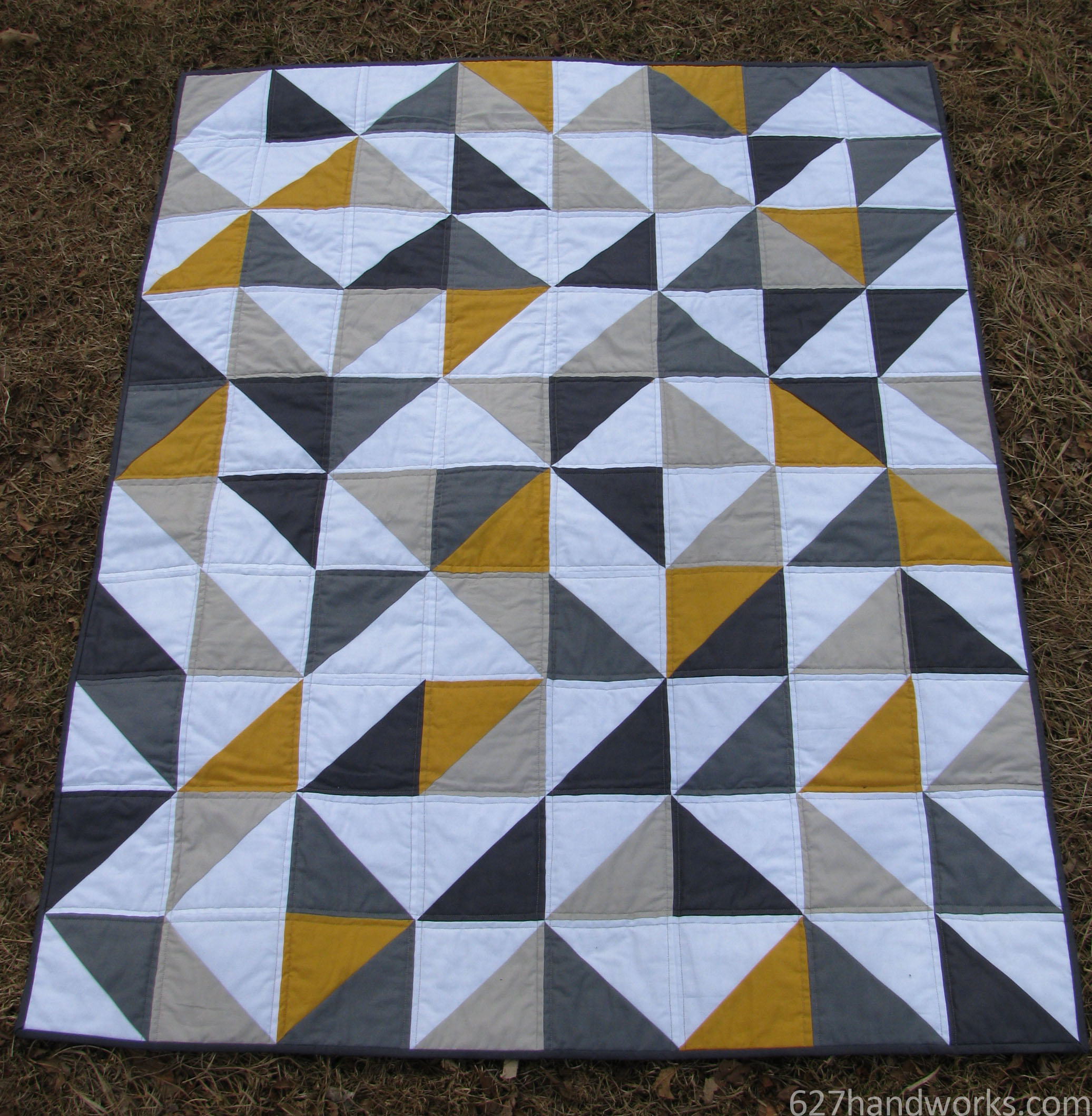 627handworks | baby quilt : yellow and gray baby quilt - Adamdwight.com