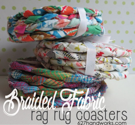 Braided Rag Rug Coaster