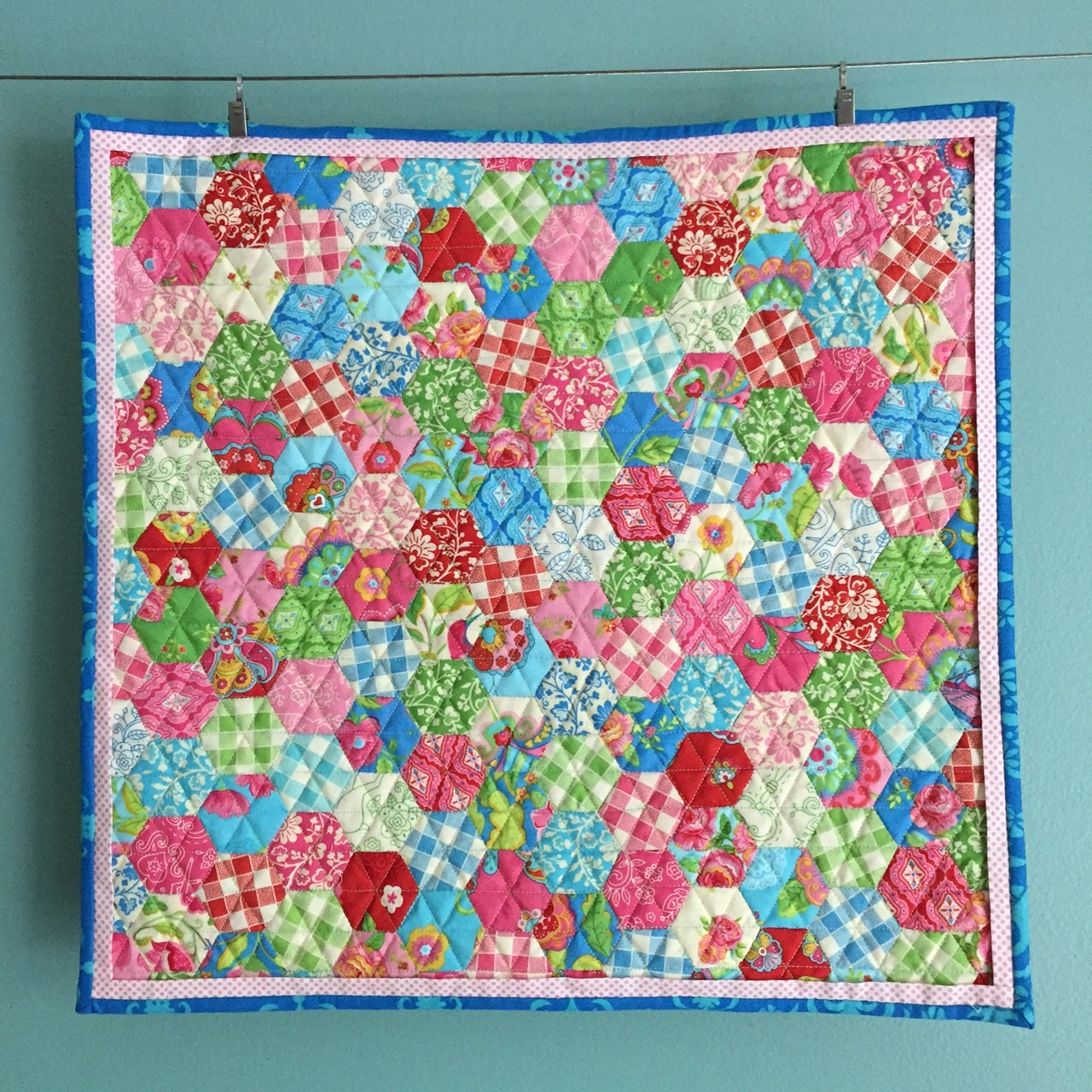 Gypsy Girl Mini Hexie Quilt 627handworks