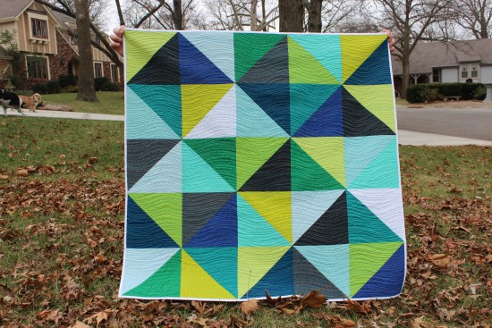 Organic Waves Baby Quilt